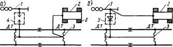 Заземление на средний вывод путевого дроссель-трансформатора