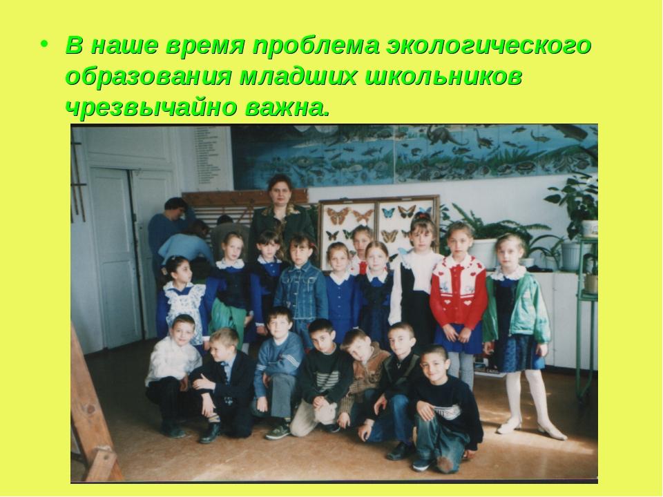 В наше время проблема экологического образования младших школьников чрезвычай...