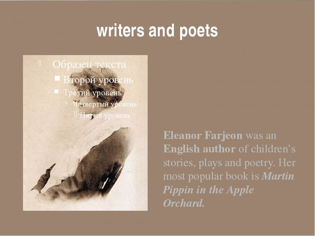 writers and poets Eleanor Farjeon was an English author of children's stories...