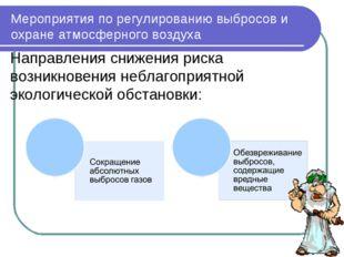 Мероприятия по регулированию выбросов и охране атмосферного воздуха Направлен