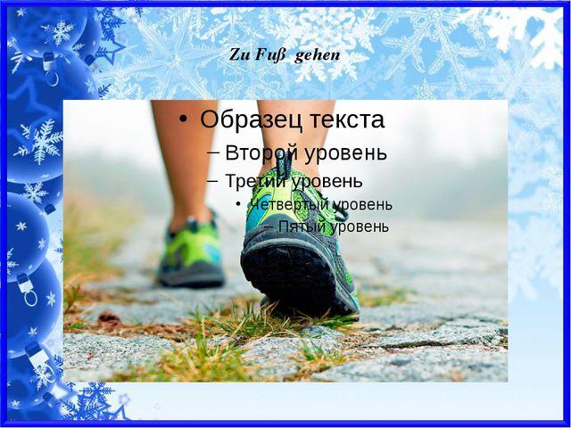 Zu Fuß gehen