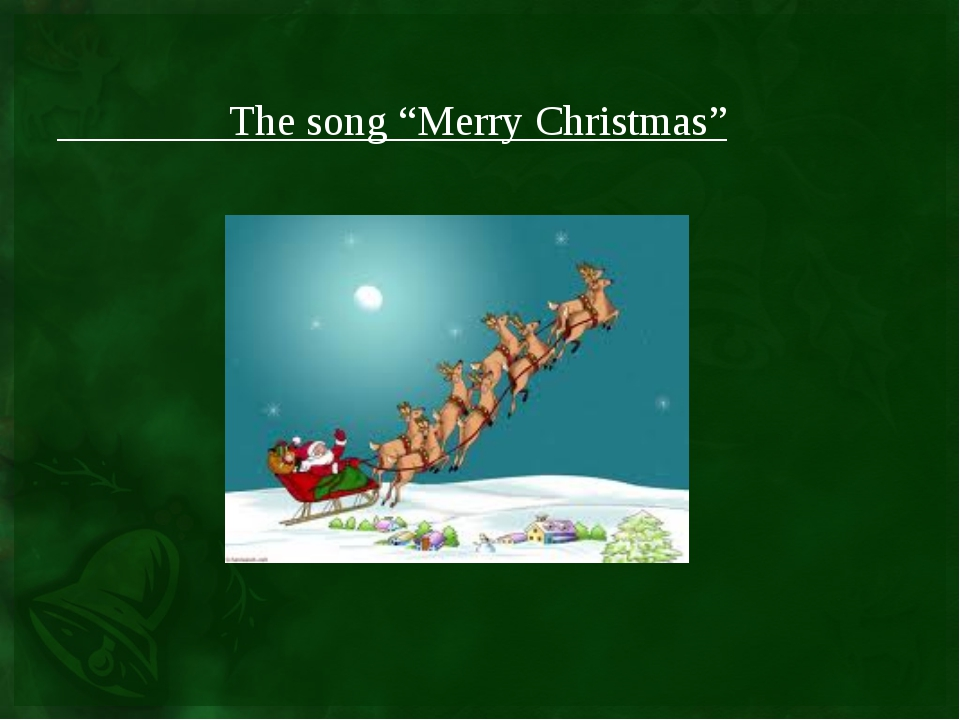 "The song ""Merry Christmas"""