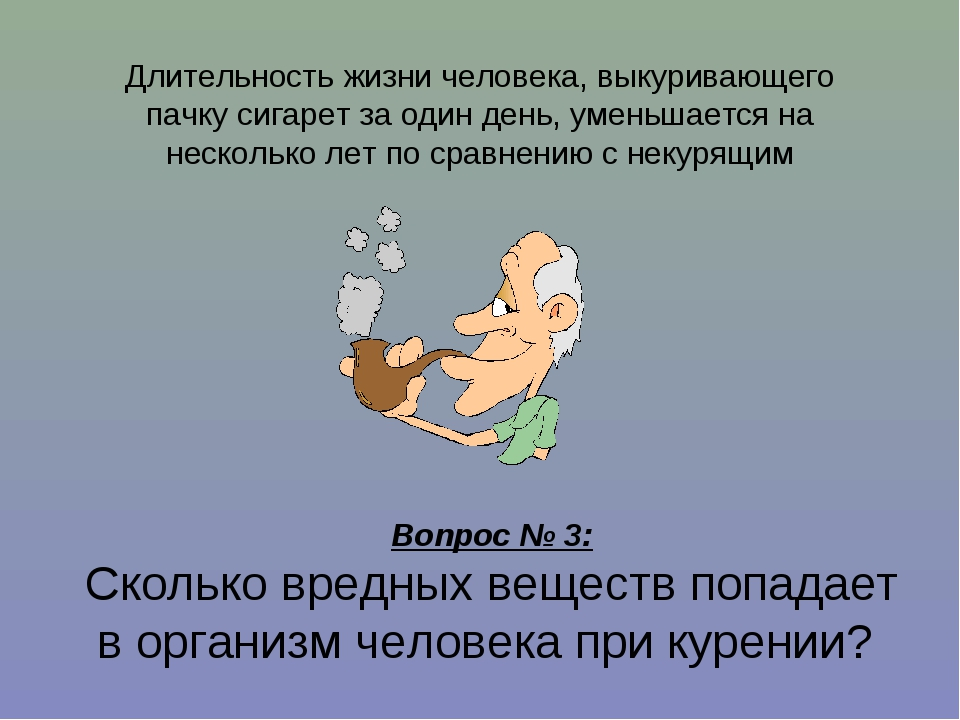 Длительность жизни человека, выкуривающего пачку сигарет за один день, умень...