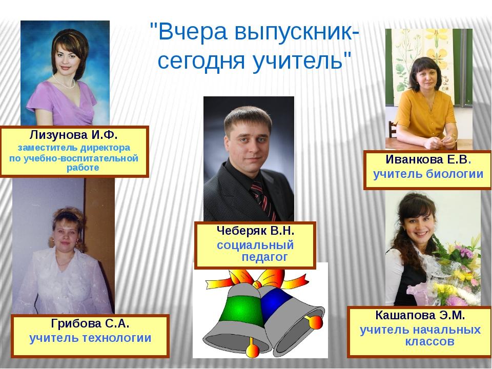 Лизунова И.Ф. заместитель директора по учебно-воспитательной работе Кашапова...