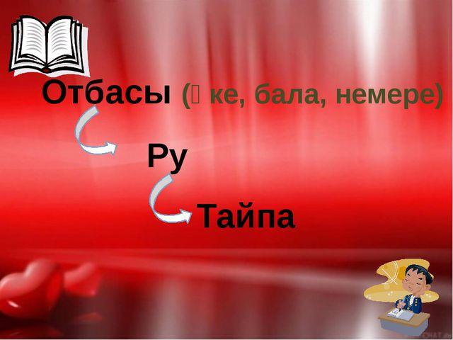 Отбасы (әке, бала, немере) Ру Тайпа
