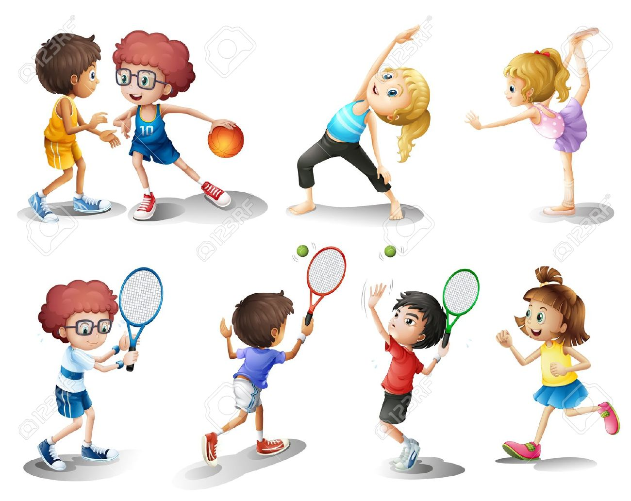 http://previews.123rf.com/images/iimages/iimages1302/iimages130201834/18005073-Illustration-of-kids-exercising-and-playing-different-sports-on-a-white-background-Stock-Vector.jpg