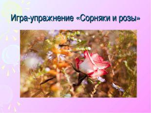 Игра-упражнение «Сорняки и розы»