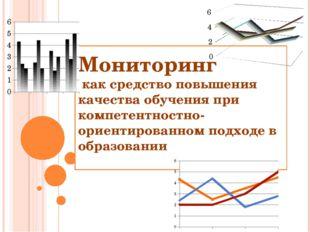 Мониторинг как средство повышения качества обучения при компетентностно-ориен