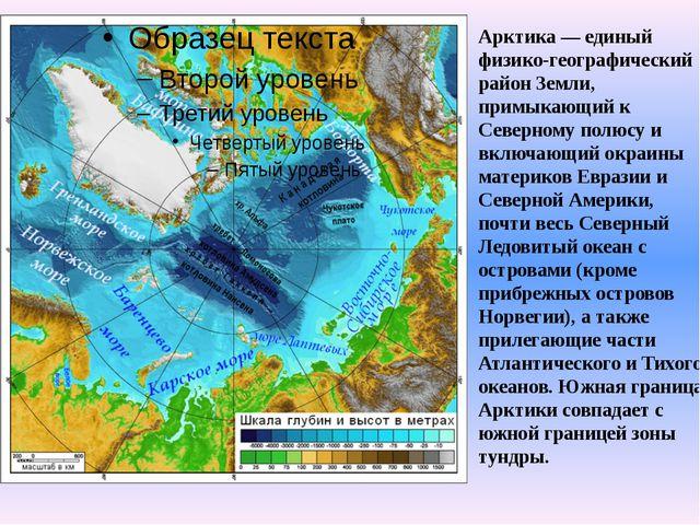 Арктика — единый физико-географический район Земли, примыкающий к Северному п...