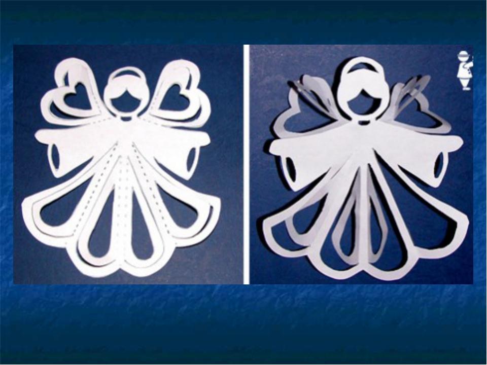 Ангел из бумаги своими руками с шаблоном