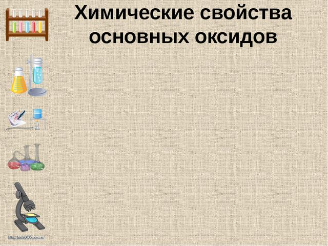 Химические свойства основных оксидов http://linda6035.ucoz.ru/