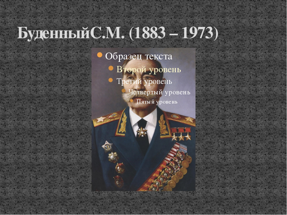 БуденныйС.М. (1883 – 1973)