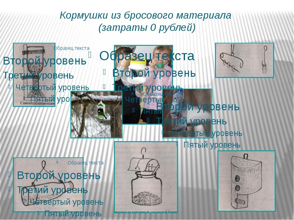 Кормушки из бросового материала (затраты 0 рублей)