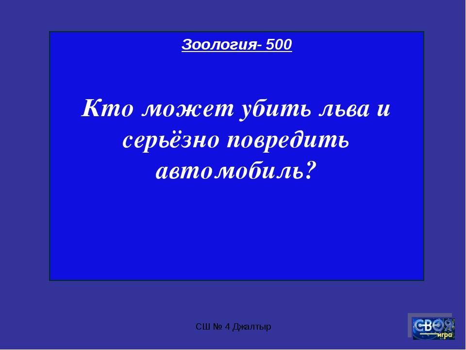 СШ № 4 Джалтыр Зоология- 500 Кто может убить льва и серьёзно повредить автомо...