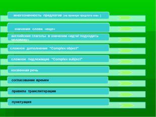 многозначность предлогов (на примере предлога «на» ) английские глаголы в зна