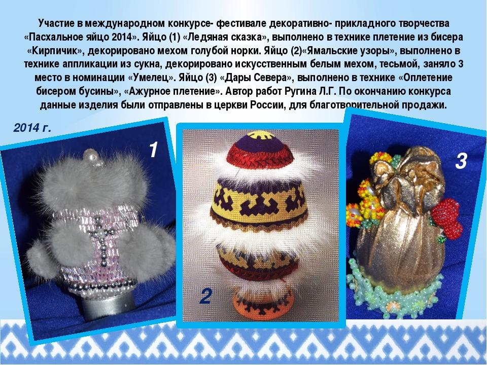 Участие в международном конкурсе- фестивале декоративно- прикладного творчест...