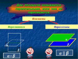 Две плоскости называются параллельными, если они не пересекаются. Плоскости П