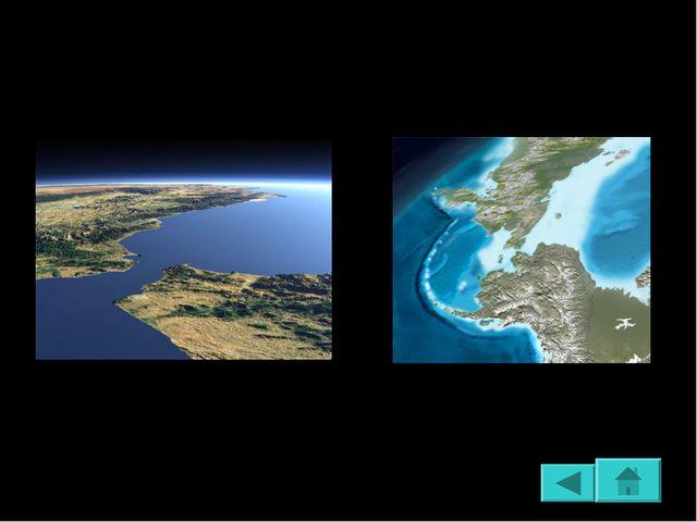 Водное пространство, расположенное между двумя участками суши и соединяющее с...