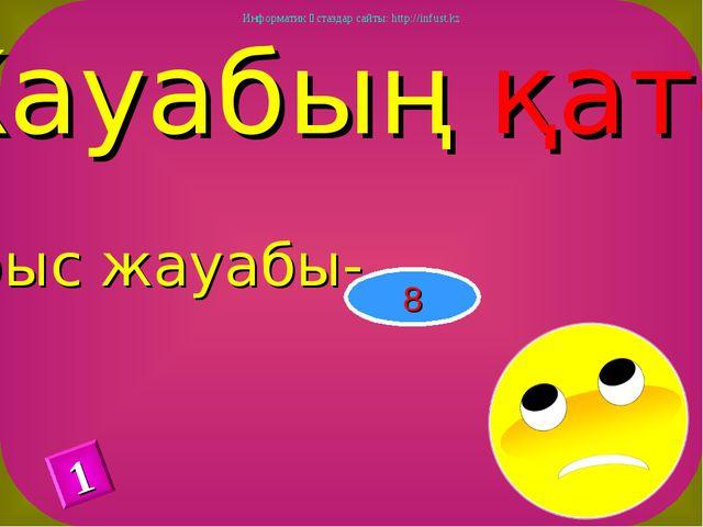 Жауабың қате Дұрыс жауабы- 8 1 Информатик ұстаздар сайты: http://infust.kz