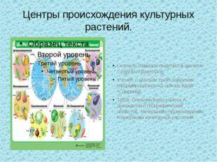 Центры происхождения культурных растений. Сначала Вавилов выделил 8 центров с