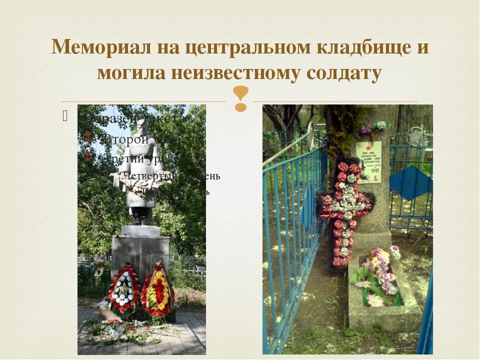 Мемориал на центральном кладбище и могила неизвестному солдату