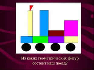 Из каких геометрических фигур состоит наш поезд?