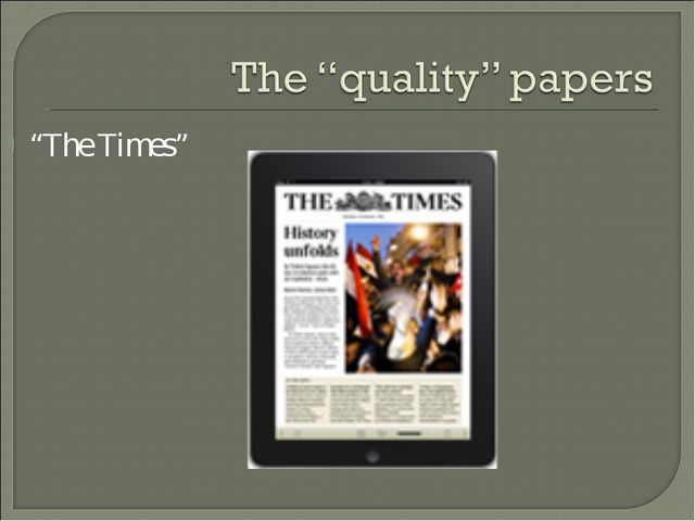 """""""The Times"""""""