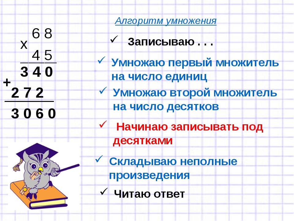 Записываю . . . 6 8 4 5 х Умножаю первый множитель на число единиц _________...