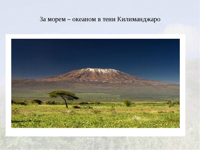 За морем – океаном в тени Килиманджаро