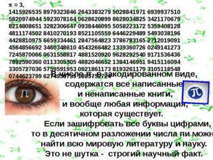 В числе π, в закодированном виде, содержатся все написанные и ненаписанные кн