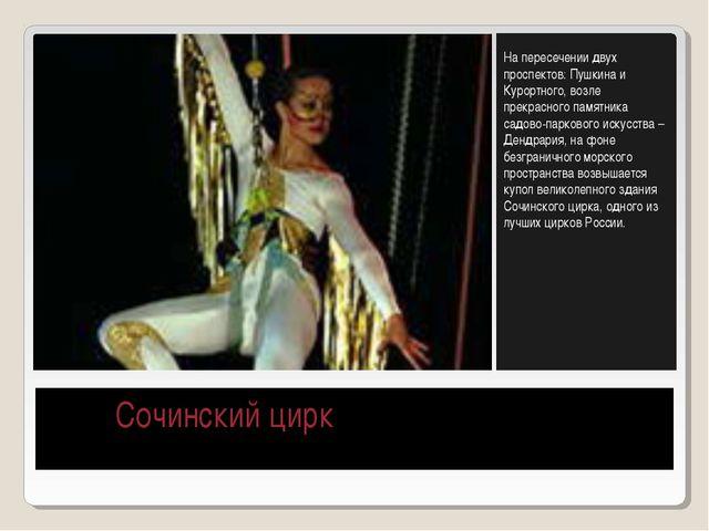 Сочинский цирк На пересечении двух проспектов: Пушкина и Курортного, возле п...