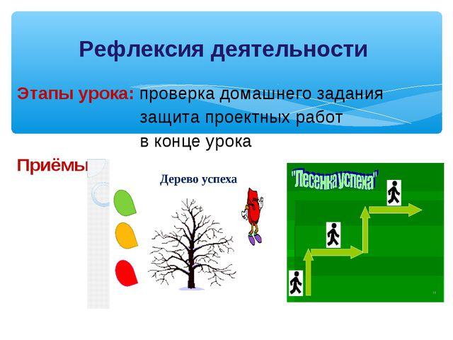 Этапы урока: проверка домашнего задания защита проектных работ в конце урока...