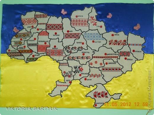 Поделки карта украины