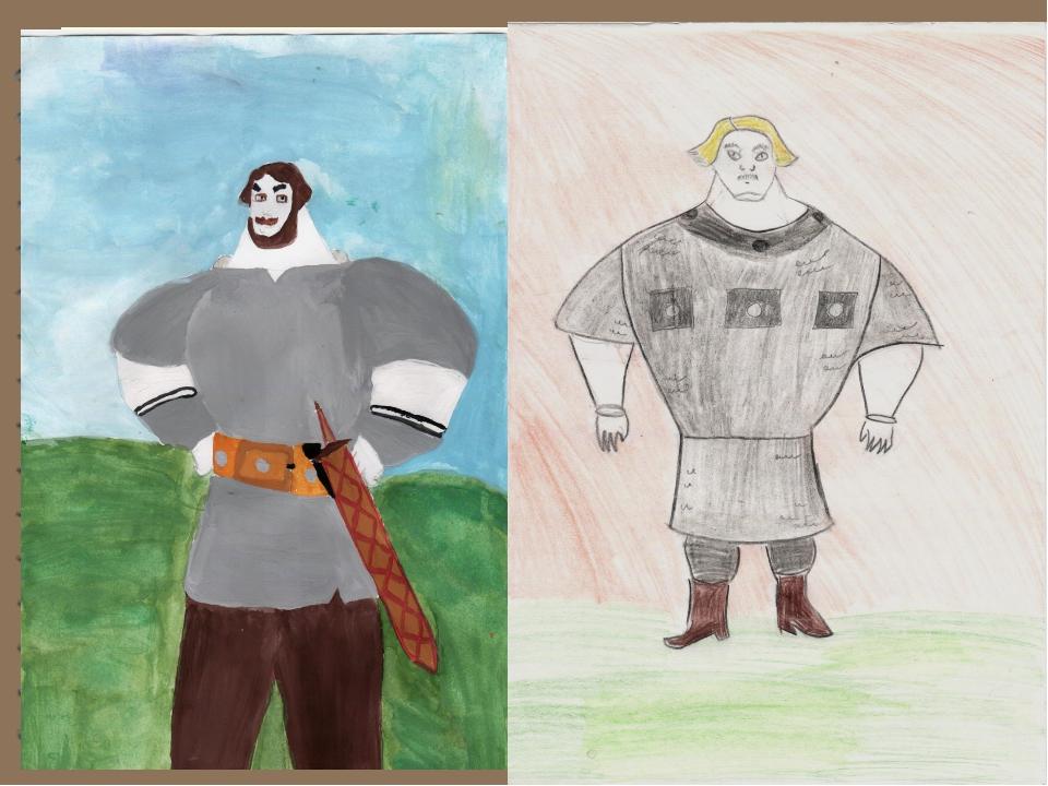 Картинка как нарисовать богатыря
