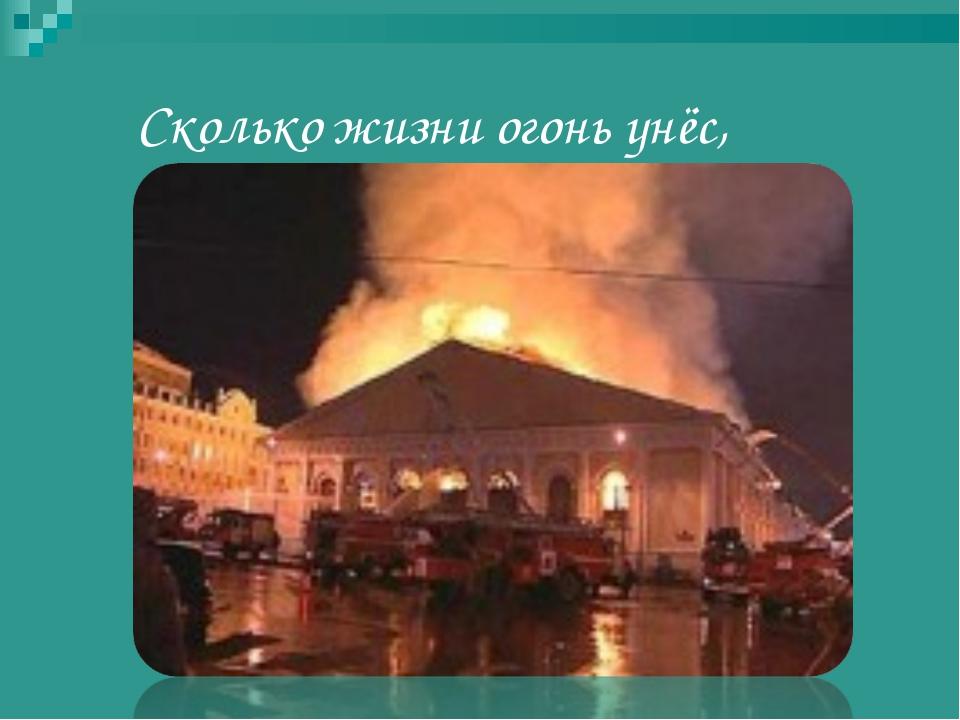 Сколько жизни огонь унёс,