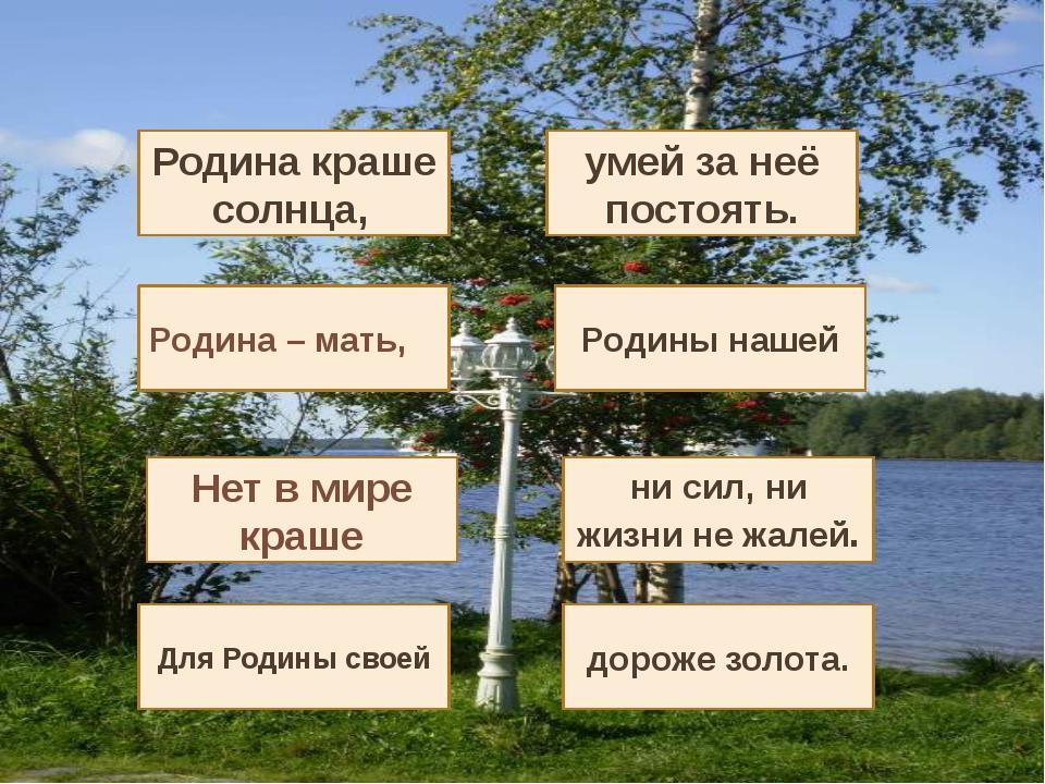 . дороже золота. Для Родины своей ни сил, ни жизни не жалей. Нет в мире кра...