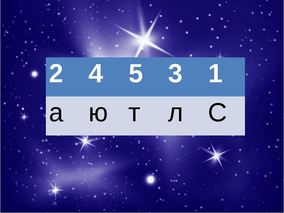2 4 5 3 1 а ю т л С