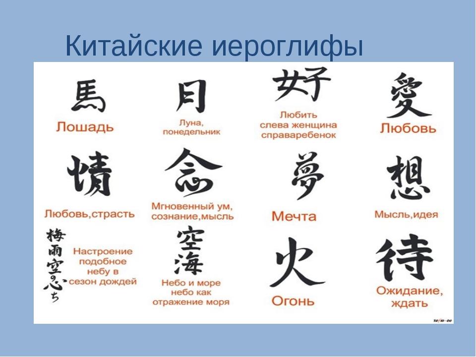 Картинки тату иероглифы с переводом на русский