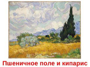 Пшеничное поле и кипарис