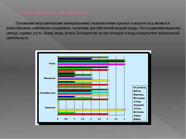 Неорганическое загрязнение. Основными неорганическими (минеральными) загрязн...