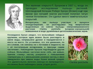Это явление открытоР. Броуномв 1827 г., когда он проводил исследования пыл
