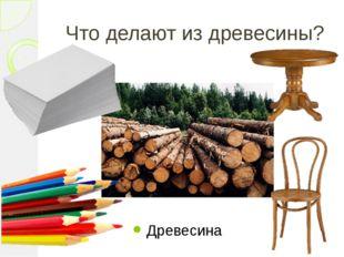 Что делают из древесины? Древесина
