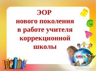 ЭОР нового поколения в работе учителя коррекционной школы