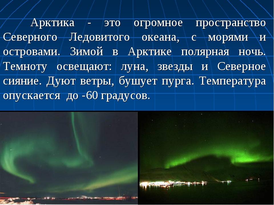 Арктика - это огромное пространство Северного Ледовитого океана, с морями и...