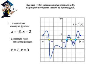 Функция y=f(x) задана на полуинтервале (a;b], на рисунке изображен график ее