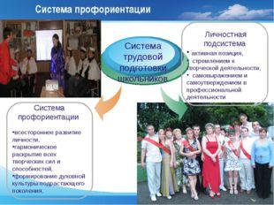 Система профориентации Система трудовой подготовки школьников