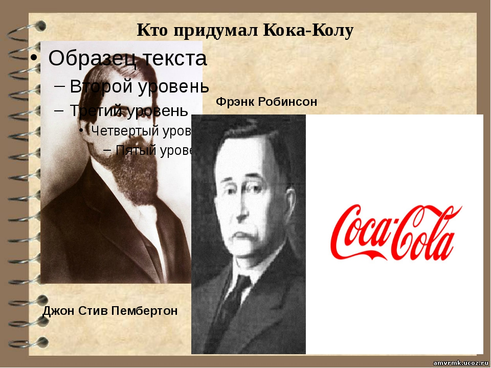 Кто придумал Кока-Колу Джон Стив Пембертон Фрэнк Робинсон