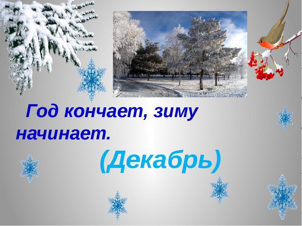 Год кончает, зиму начинает. (Декабрь)