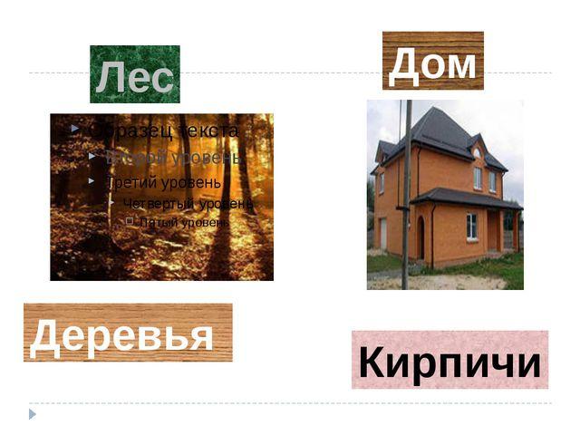 Дом Лес Деревья Кирпичи