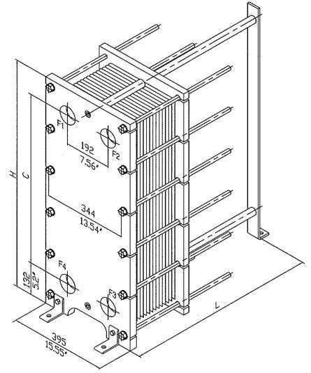 Пластинчатый теплообменник для дизельного топлива